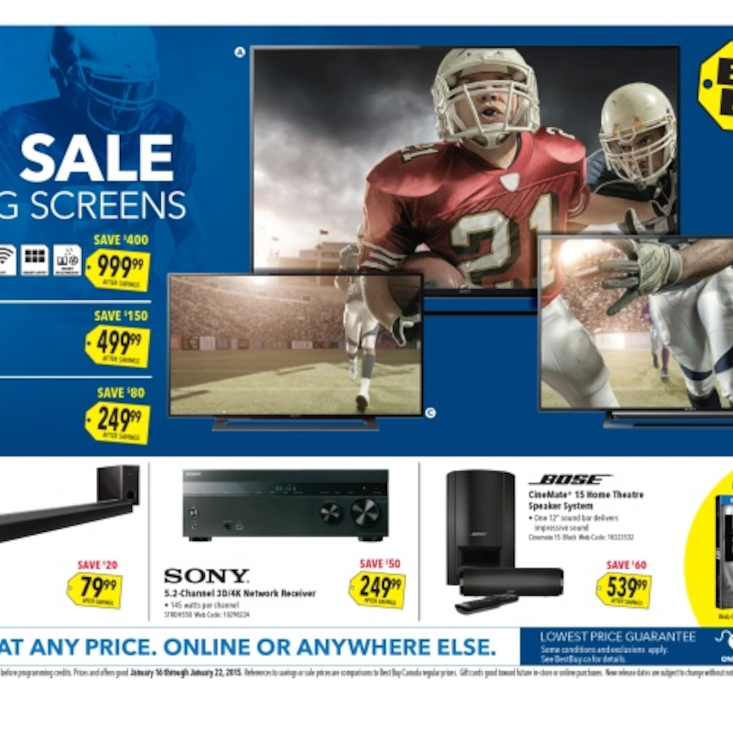 Best buy weekly flyer big sale on big screens jan 16 22 redflagdeals com