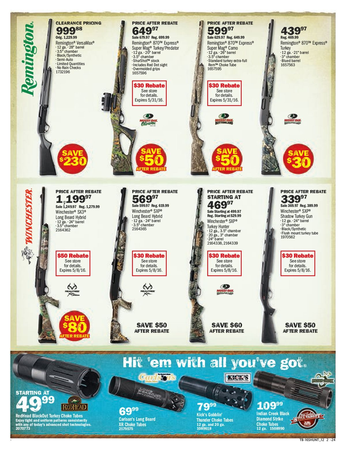 Bass Pro Shops Weekly Flyer - Turkey Hunting Sale! - Apr 11