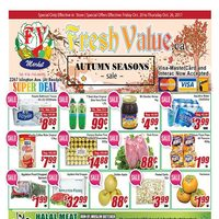 Fresh Value - Weekly Specials - Autumn Seasons Sale Flyer