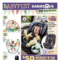 Babies R Us - 10 Day Event - Babyfest  Flyer