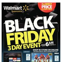 Walmart - Supercentre - Black Friday Canada 3-Day Event Flyer