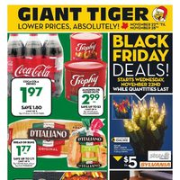 Giant Tiger - Weekly - Black Friday Deals! & Big Game Deals Flyer