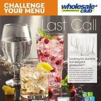 Wholesale Club - Challenge Your Menu - Last Call Flyer