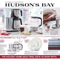 The Bay - The Holiday Home Sale - Final Days to Shop Gifts Flyer