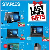Staples - Last Minute Gifts Flyer