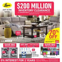 Leon's - Part of the Family - Inventory Clearance Flyer