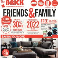 The Brick - Friends & Family Event  Flyer