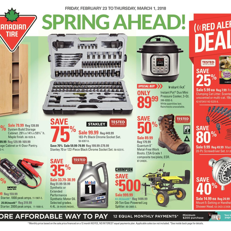 Canadian Tire Weekly Flyer Weekly Spring Ahead Feb 23