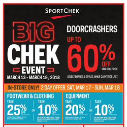 Sport Chek - Big Chek Event Flyer