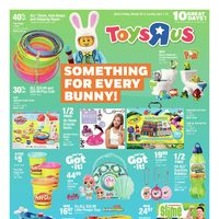 Toys R Us - 10 Great Days - Something for Every Bunny! Flyer