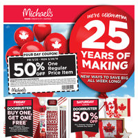 Michaels - Weekly - 25 Years of Making Flyer