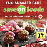 Save On Foods - Weekly Specials - Fun Summer Fare Flyer
