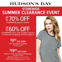 The Bay - Weekly - Storewide Summer Clearance Event Flyer