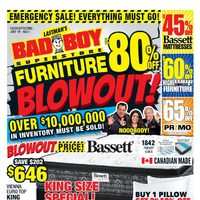 Bad Boy Furniture - Furniture Blowout! Flyer