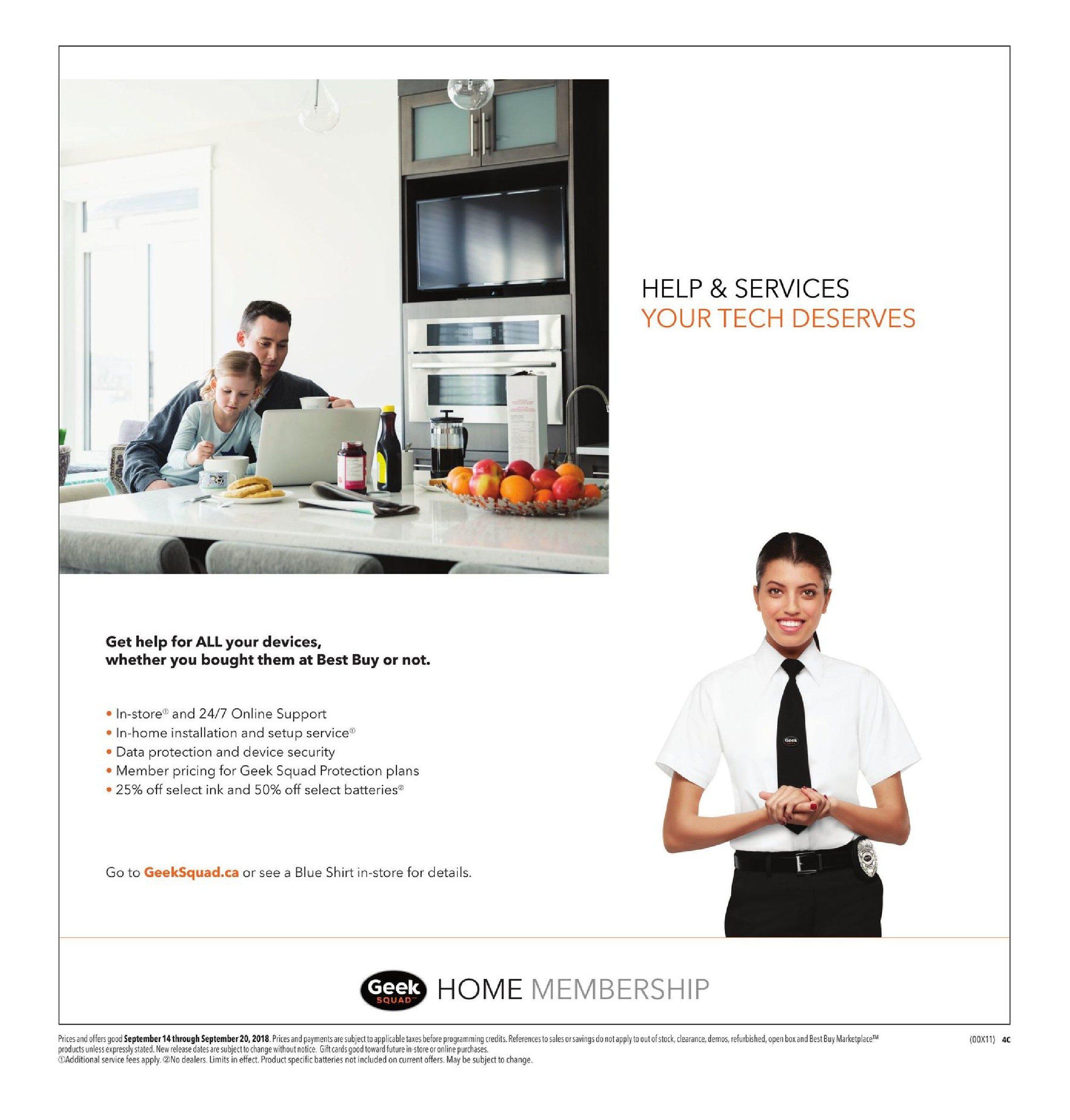 Best Buy Weekly Flyer Bring Home Epic Savings Sep 14 Dc Ac Virtual Lab Online Geeks 20