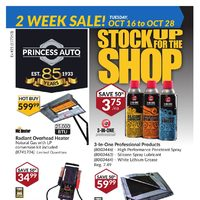 Princess Auto - Stock Up For The Shop Flyer