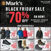 Mark's - 6 Days of Savings - Black Friday Sale Flyer