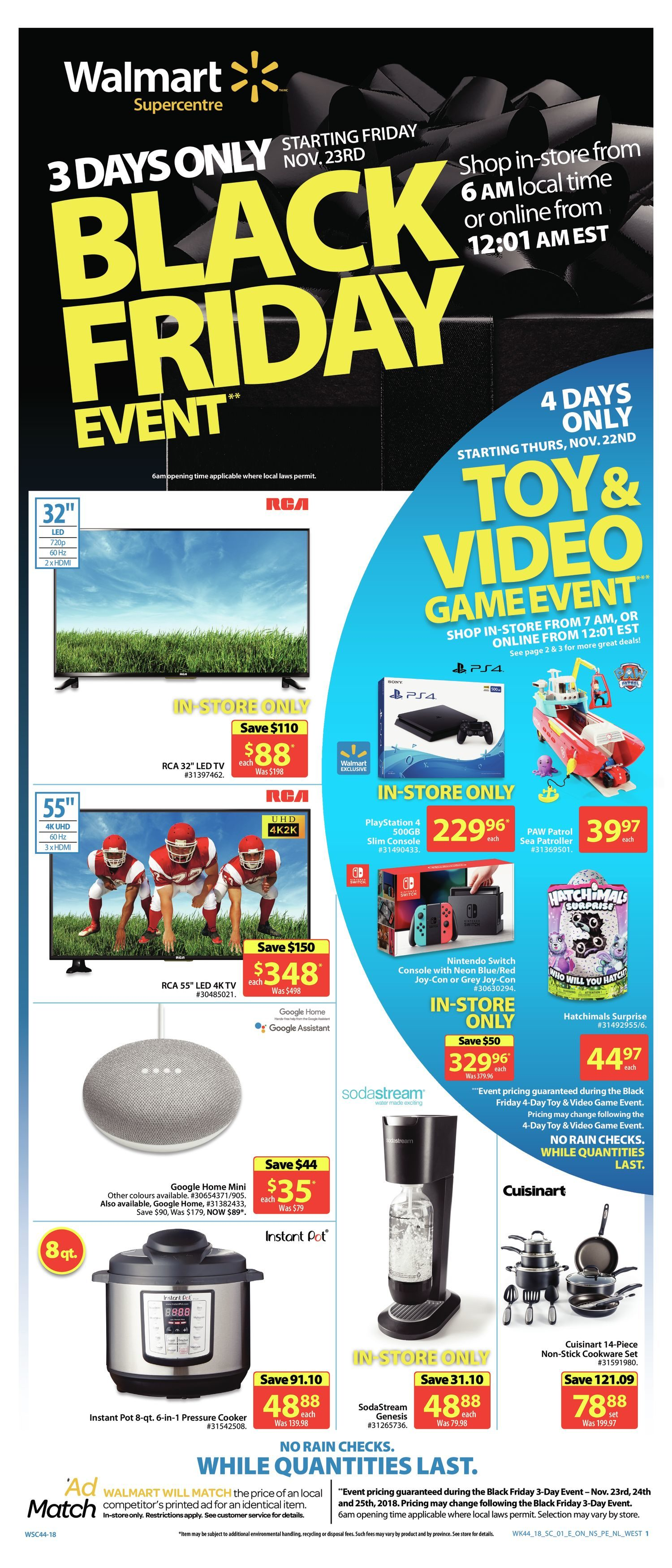 Walmart Weekly Flyer - 3 Days Only - Black Friday Event