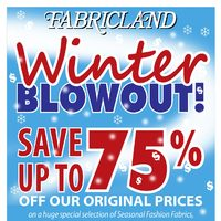 Fabricland - Winter Blowout! Flyer