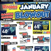 Visions Electronics - Weekly - January Blowout Flyer