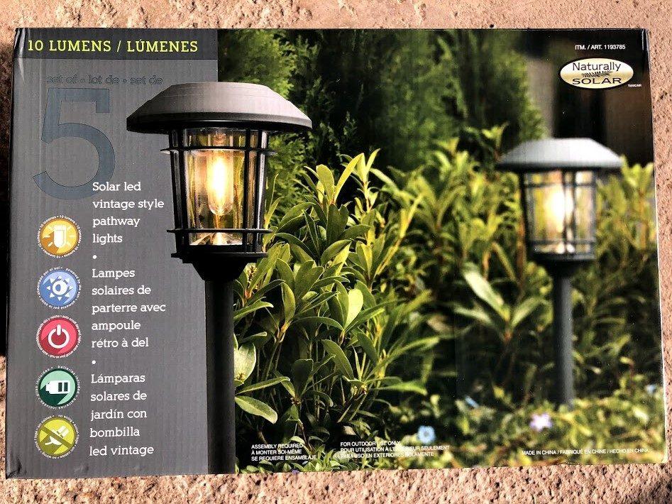 Costco Pathway Solar Landscape Light 5pk 27 99 Redflagdeals Com Forums