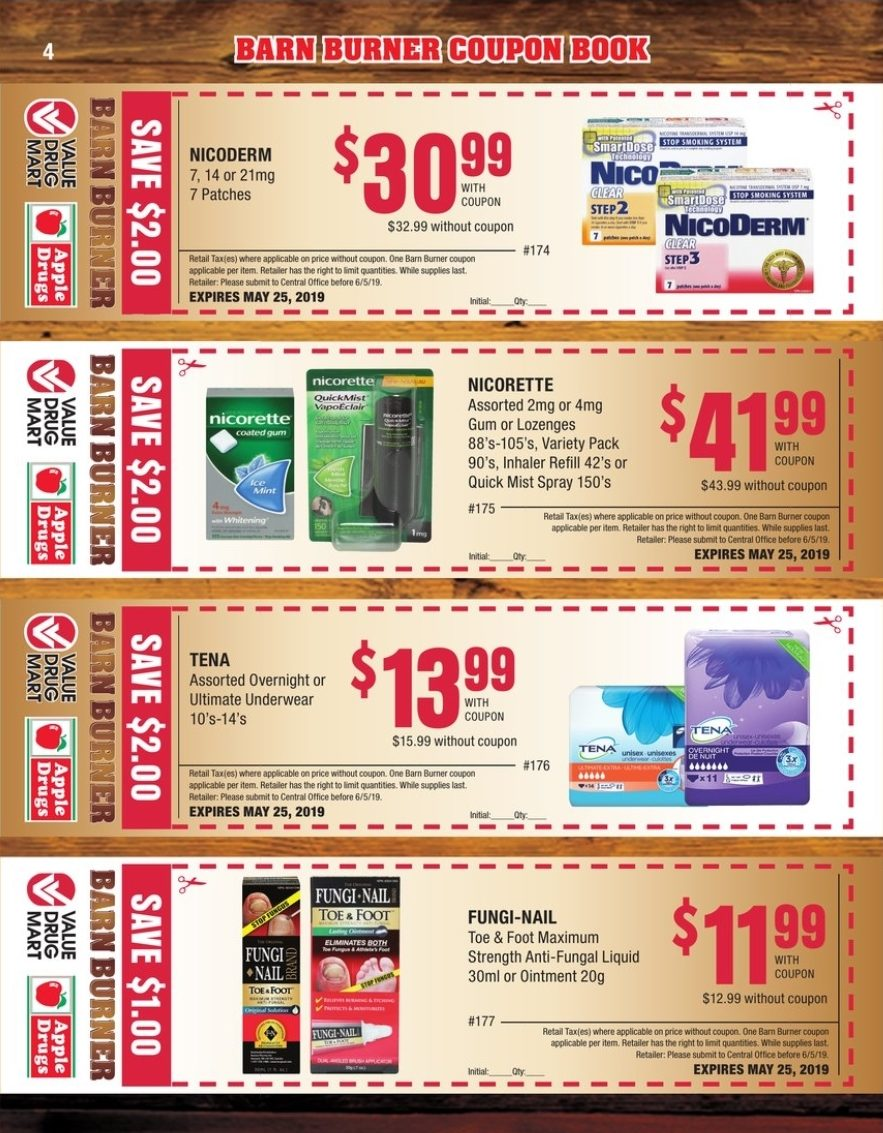 Value Drug Mart Weekly Flyer - Barn Burner Coupon Book - Apr