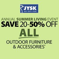 JYSK - Weekly - Annual Summer Living Event Flyer