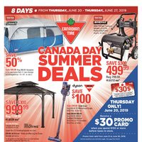 Canadian Tire - 8 Days of Savings - Canada Day Summer Deals Flyer