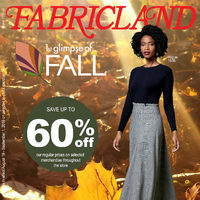 Fabricland - 1st Glimpse of Fall Flyer