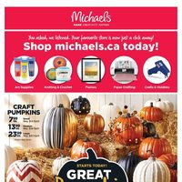 Michaels - Weekly - Great Pumpkin Sale Flyer