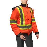 DuraDrive 6-in 1 Hi-Vis Insulated Safety Winter Jacket - Orange