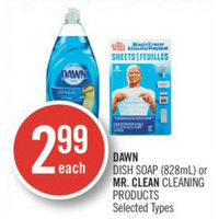 Dawn Dish Soap Or Mr. Clean Cleaning Products