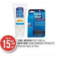 Zims, Micatin Foot Care Or New-Skin Liquid Bandage Products