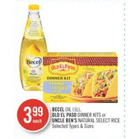Becel Oil, Old El Paso Dinner Kits Or Uncle Ben's Natural Select Rice