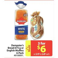 Dempster's Bread Or English Muffins