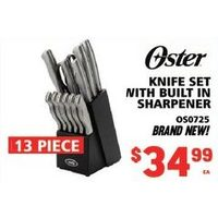 Oster Knife Set With Built in Sharpener