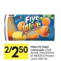 Minute Maid Lemonade, Five Alive, Fruitopia Or Nestea Juice