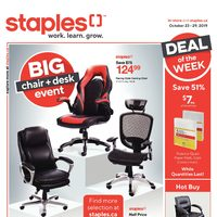 Miraculous Staples Weekly Flyer Weekly Big Chair Desk Event Oct Machost Co Dining Chair Design Ideas Machostcouk