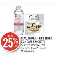 Olay, Simple Or Life Brand Skin Care Products