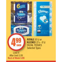 Royale Or Kleenex Facial Tissues