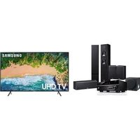 Yamaha Samsung 75-Inch LED Ultra HD 4K Smart TV and Dolby THX 5.1/ Network Home Theater Audio System