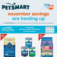 PetSmart - Treats Membership Only - November Savings Flyer