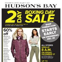 - 2-Day Boxing Day Sale & Boxing Week Sale Flyer
