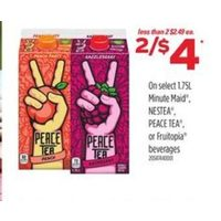 Minute Maid Nestea Peace Tea or Fruitopia Beverages