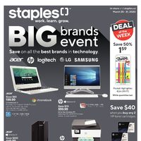 Staples - Weekly - Big Brands Event Flyer