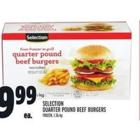 Selection Quarter Pound Beef Burgers