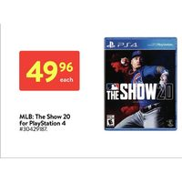 MLB: The Show 20 For Playstation 4
