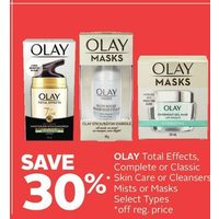 Olay Total Effects Complete Or Classic Skin Care Or Cleansers, Mists Or Masks