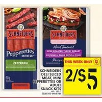 Schneiders Deli Sliced Meat, Mini Pepperettes Or Adult Snack Kits