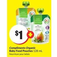 Compliments Organic Baby Food Pouches